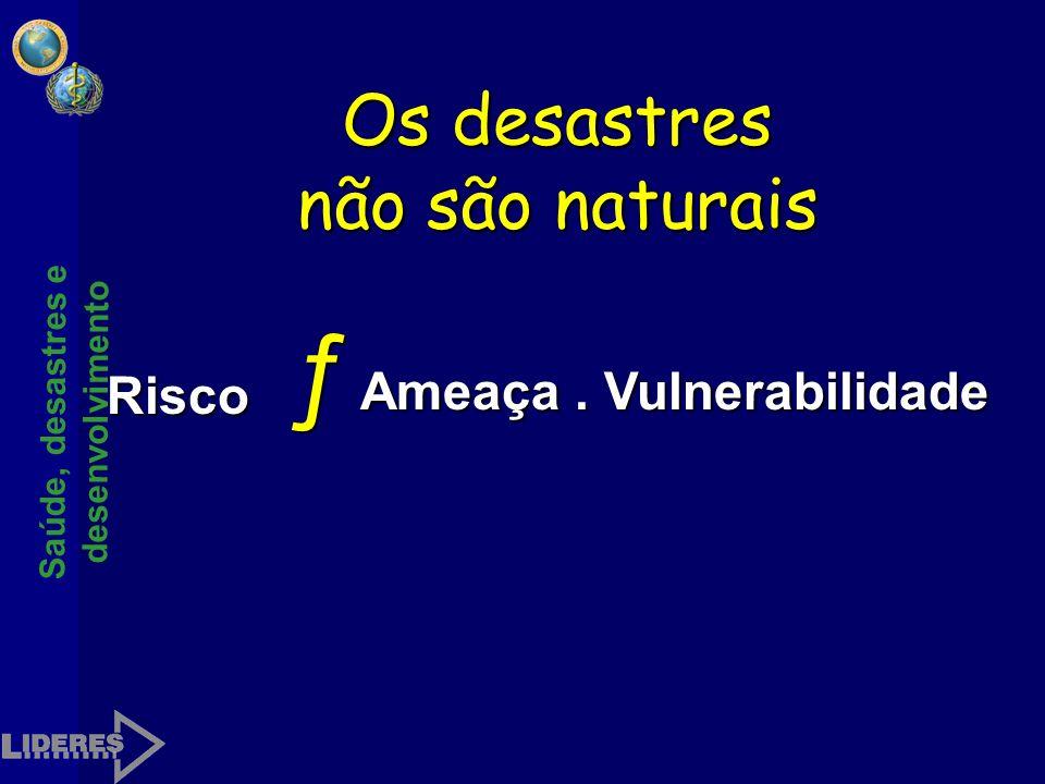 Os desastres não são naturais
