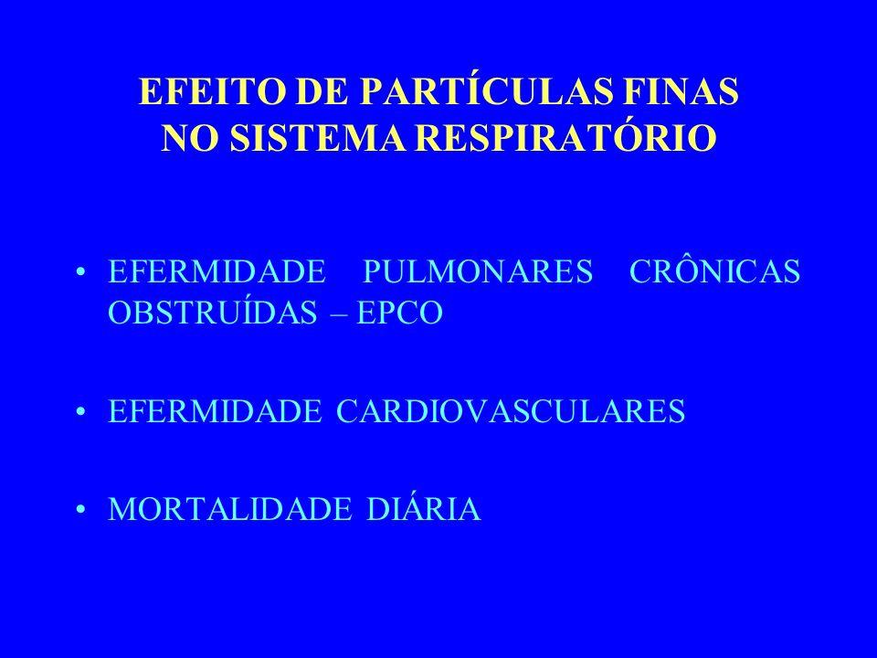 EFEITO DE PARTÍCULAS FINAS NO SISTEMA RESPIRATÓRIO
