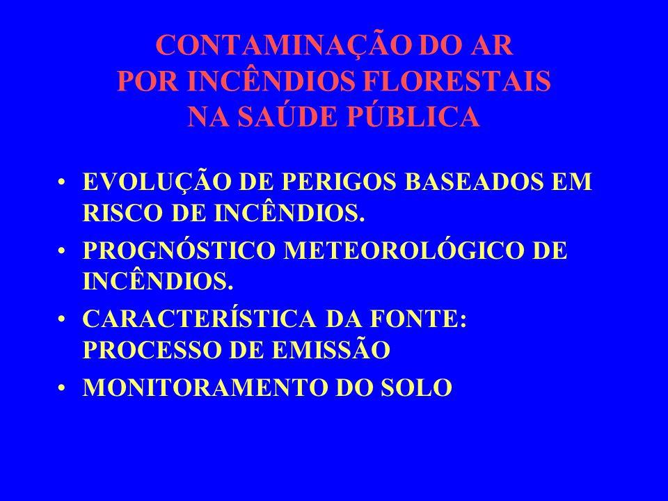 CONTAMINAÇÃO DO AR POR INCÊNDIOS FLORESTAIS NA SAÚDE PÚBLICA