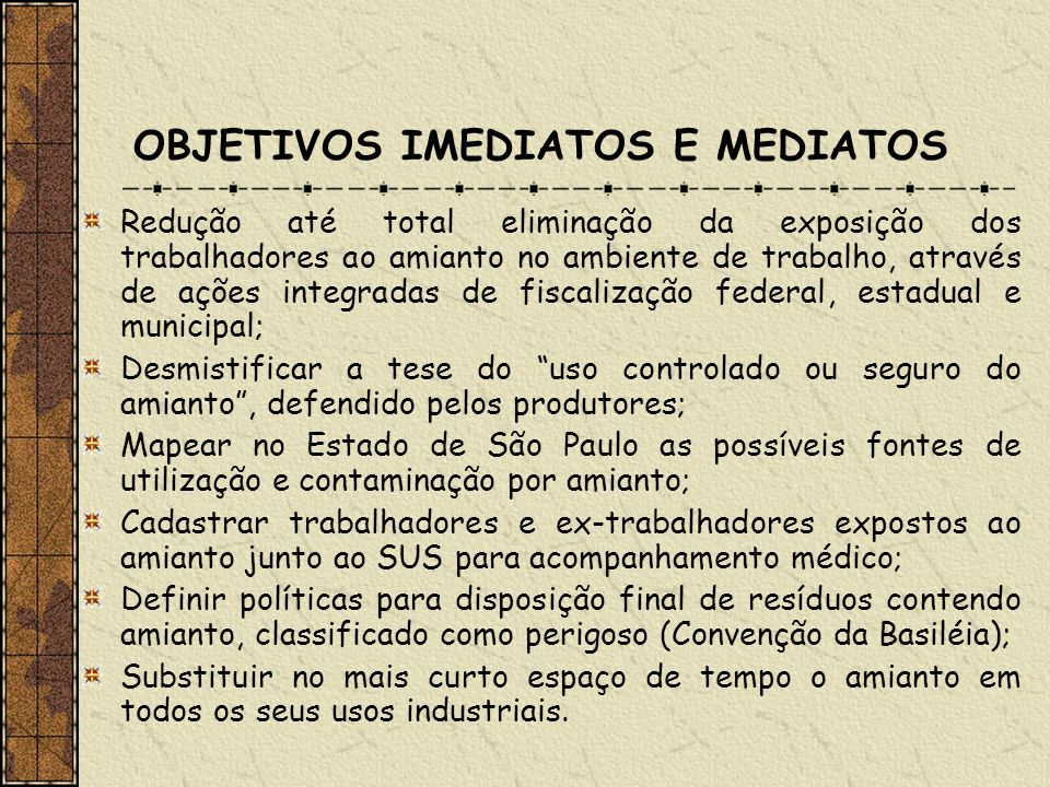 OBJETIVOS IMEDIATOS E MEDIATOS