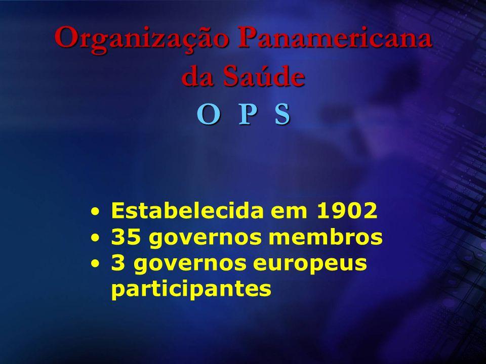 Organização Panamericana da Saúde O P S