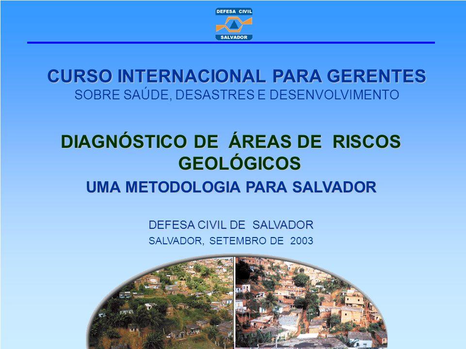 DIAGNÓSTICO DE ÁREAS DE RISCOS GEOLÓGICOS