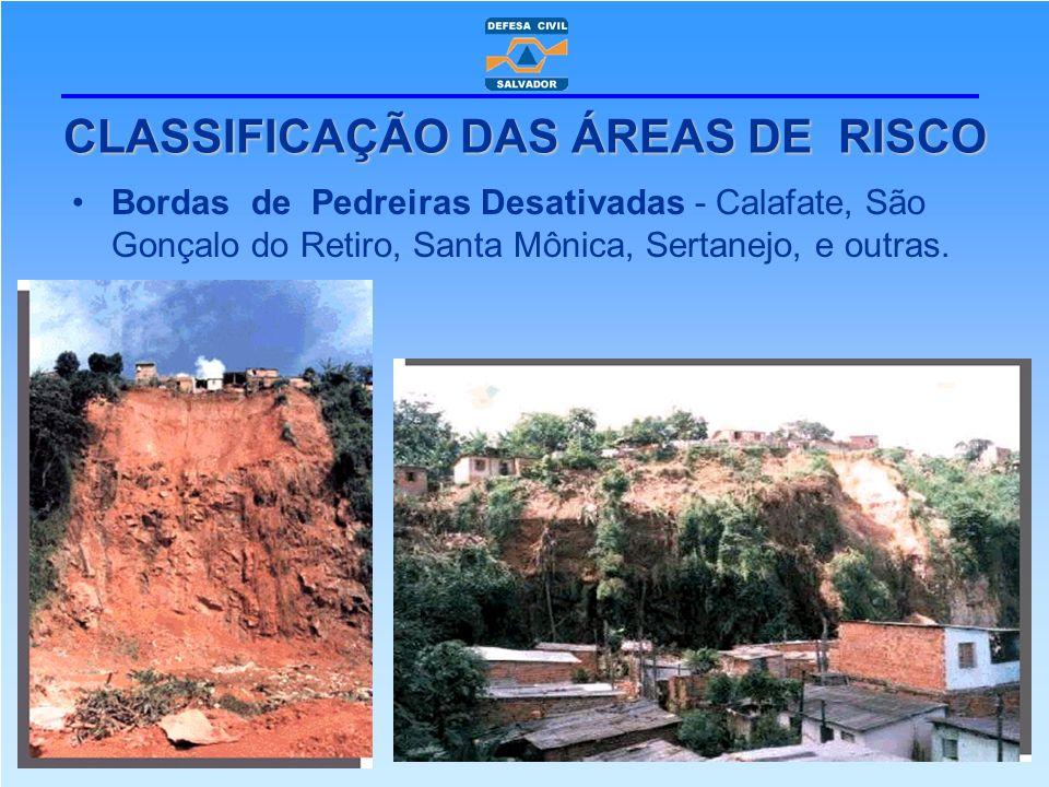 CLASSIFICAÇÃO DAS ÁREAS DE RISCO