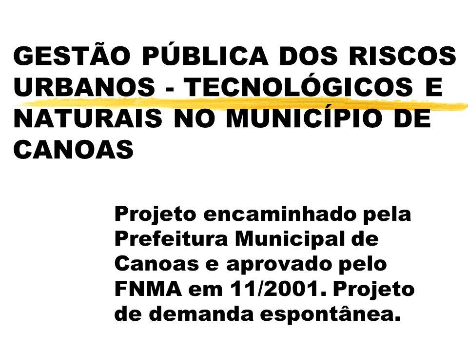 GESTÃO PÚBLICA DOS RISCOS URBANOS - TECNOLÓGICOS E NATURAIS NO MUNICÍPIO DE CANOAS