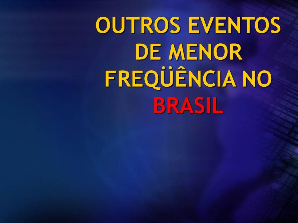 OUTROS EVENTOS DE MENOR FREQÜÊNCIA NO BRASIL