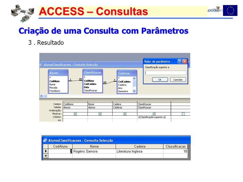 Criação de uma Consulta com Parâmetros