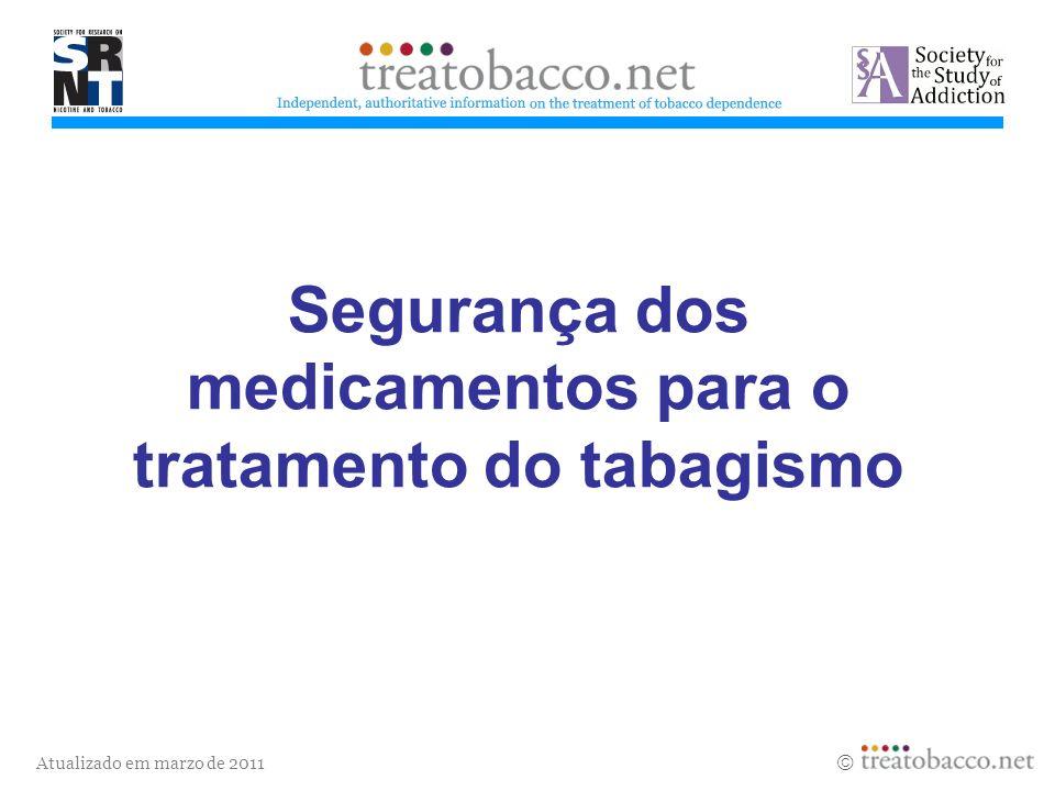 Segurança dos medicamentos para o tratamento do tabagismo