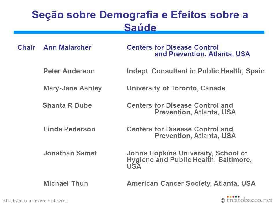 Seção sobre Demografia e Efeitos sobre a Saúde