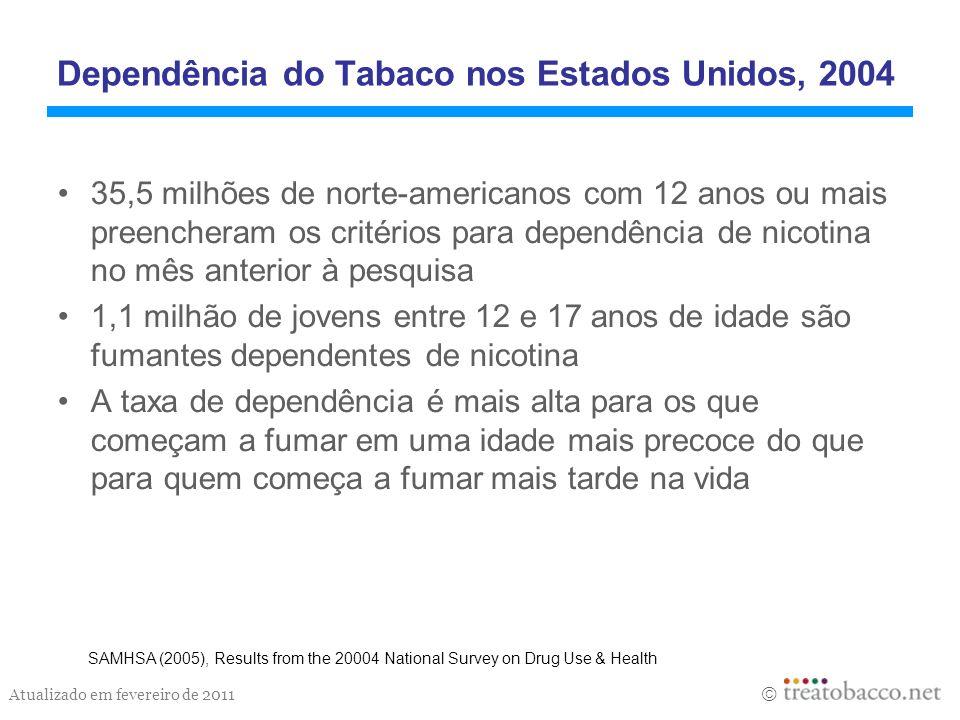 Dependência do Tabaco nos Estados Unidos, 2004