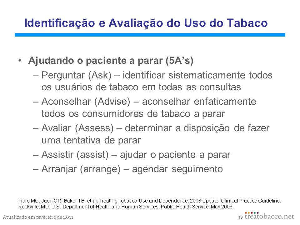 Identificação e Avaliação do Uso do Tabaco