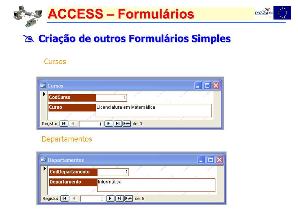  Criação de outros Formulários Simples