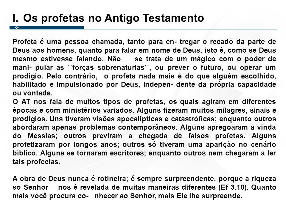 Os profetas no Antigo Testamento