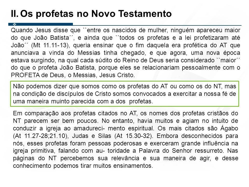 Os profetas no Novo Testamento