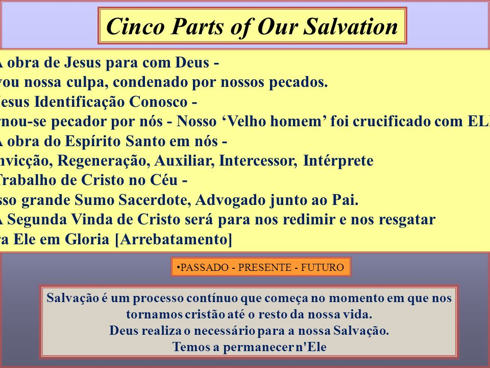 Cinco Parts of Our Salvation