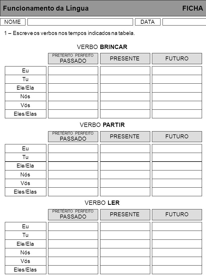 Funcionamento da Língua FICHA