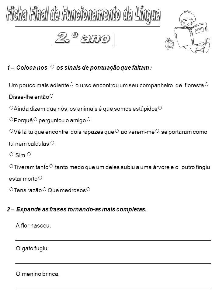 Ficha Final de Funcionamento da Língua