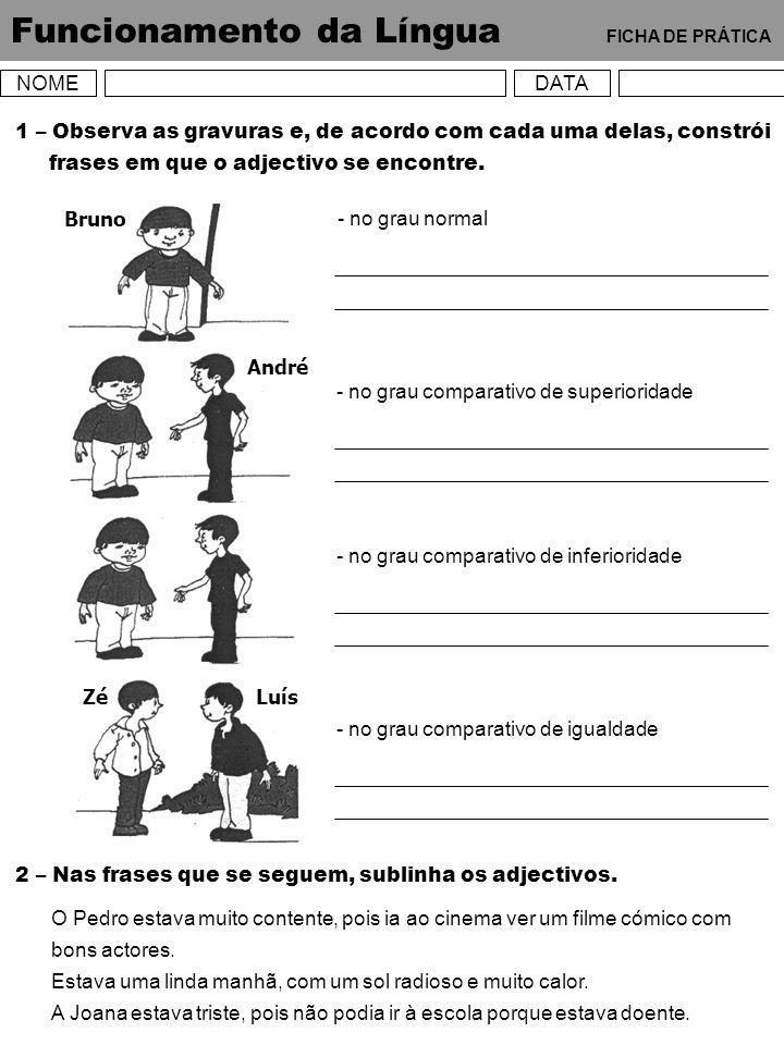 Funcionamento da Língua FICHA DE PRÁTICA
