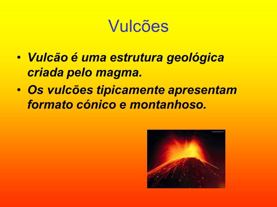 Vulcões Vulcão é uma estrutura geológica criada pelo magma.