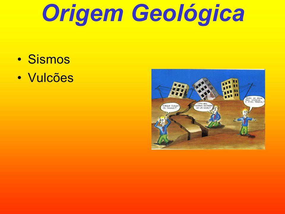 Origem Geológica Sismos Vulcões