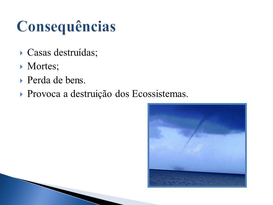 Consequências Casas destruídas; Mortes; Perda de bens.