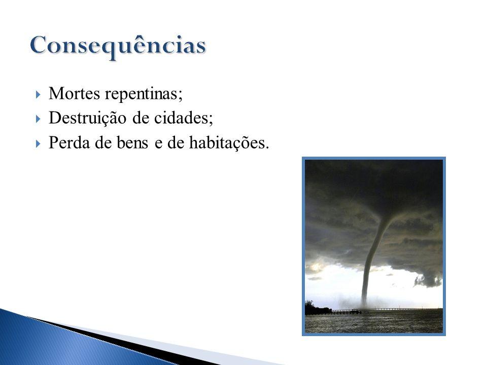Consequências Mortes repentinas; Destruição de cidades;