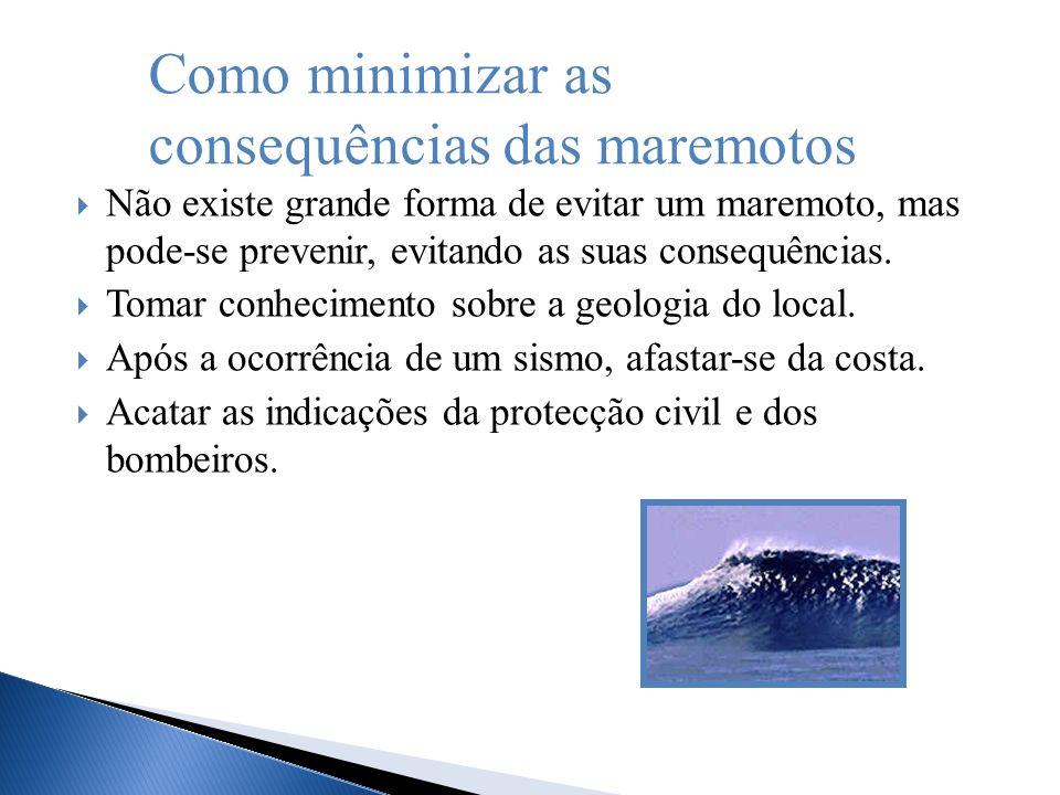 Como minimizar as consequências das maremotos