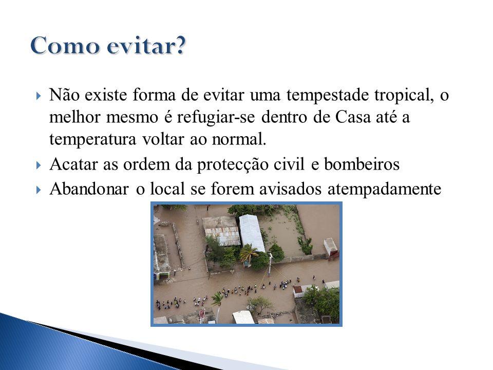 Como evitar Não existe forma de evitar uma tempestade tropical, o melhor mesmo é refugiar-se dentro de Casa até a temperatura voltar ao normal.