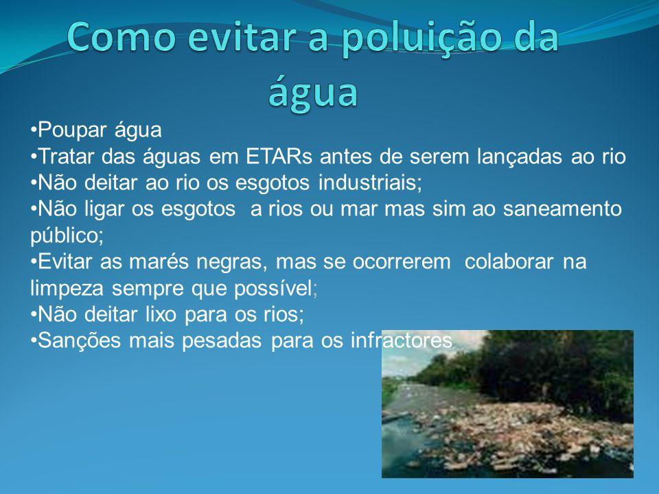 Como evitar a poluição da água