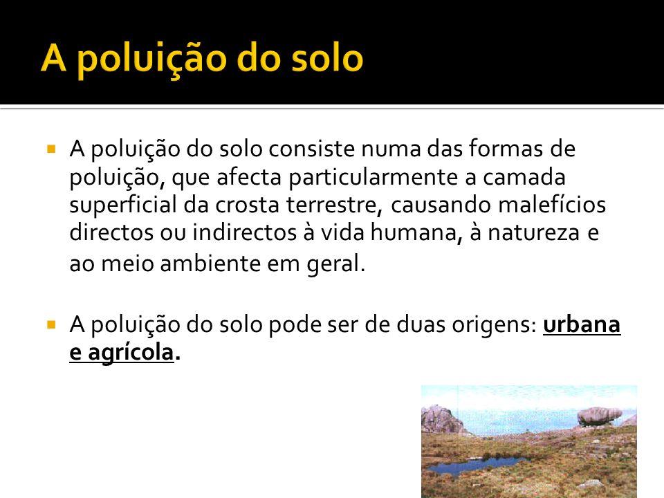 A poluição do solo