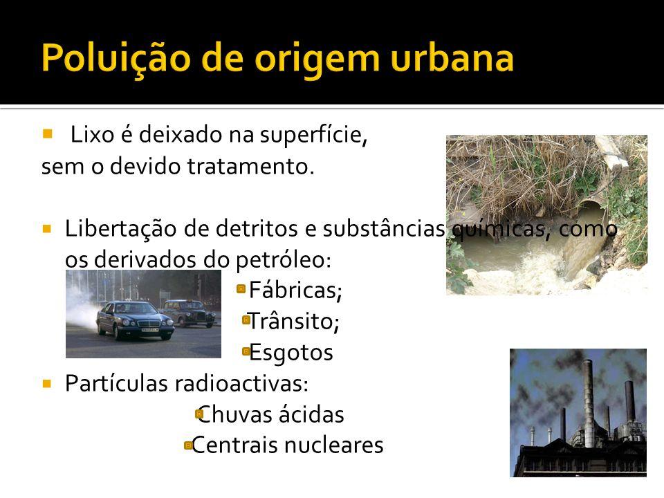 Poluição de origem urbana