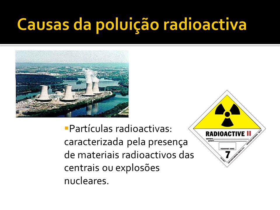 Causas da poluição radioactiva