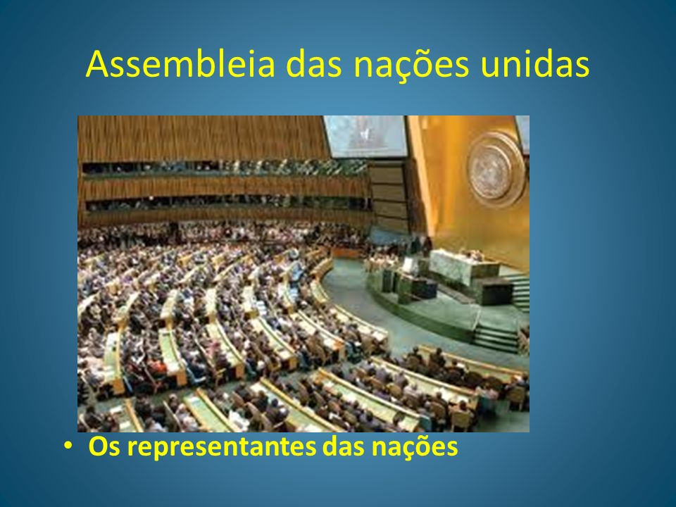 Assembleia das nações unidas
