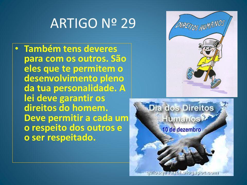 ARTIGO Nº 29