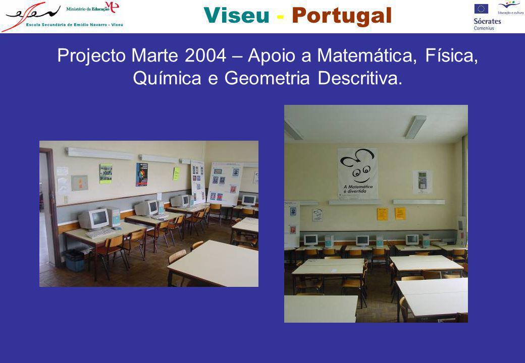 Projecto Marte 2004 – Apoio a Matemática, Física, Química e Geometria Descritiva.