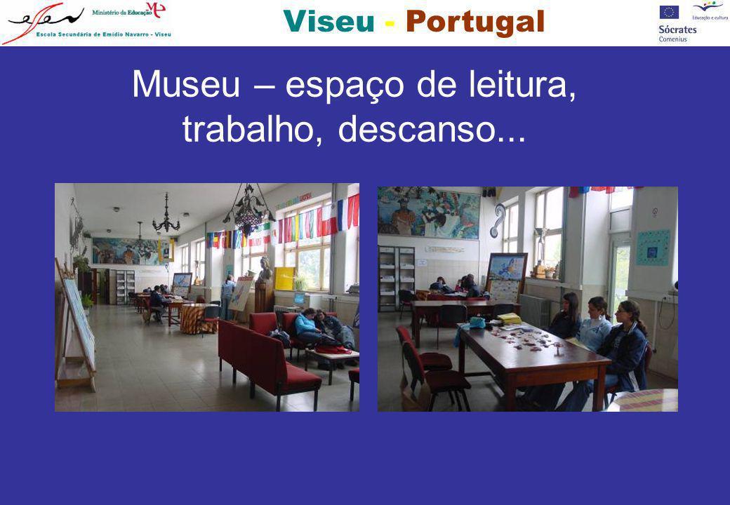 Museu – espaço de leitura, trabalho, descanso...