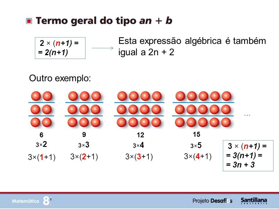 Esta expressão algébrica é também igual a 2n + 2