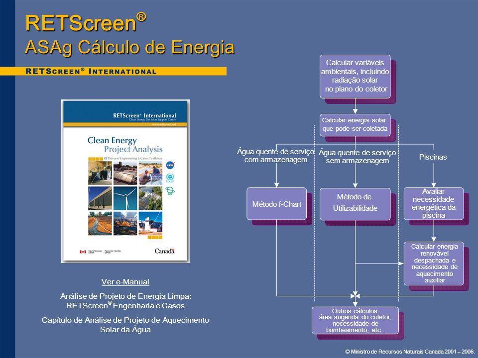 RETScreen® ASAg Cálculo de Energia