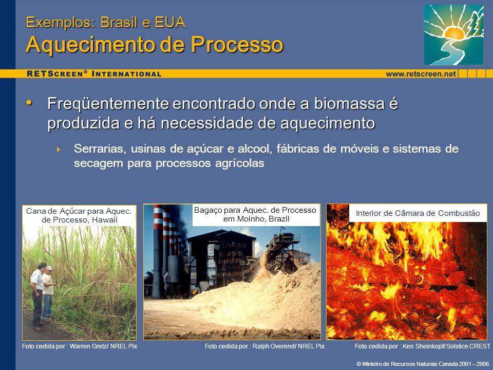 Exemplos: Brasil e EUA Aquecimento de Processo