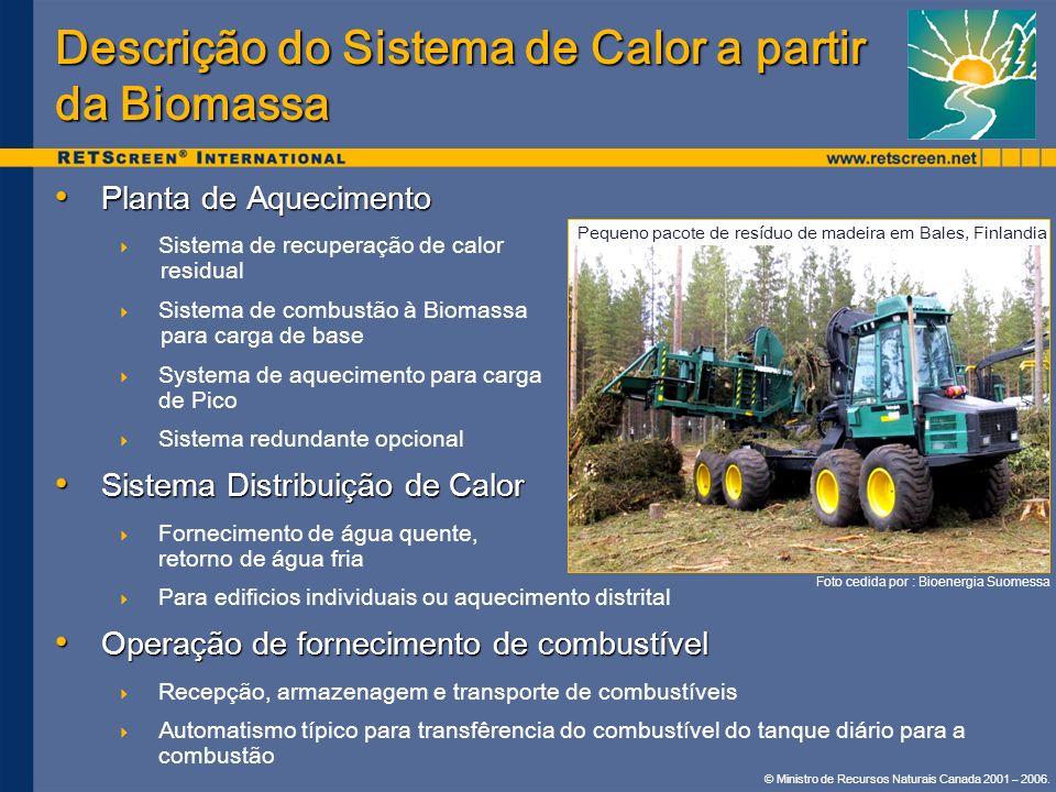 Descrição do Sistema de Calor a partir da Biomassa