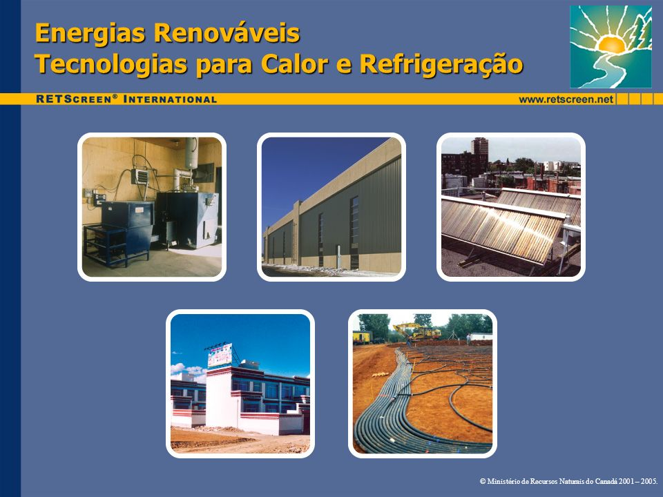 Energias Renováveis Tecnologias para Calor e Refrigeração