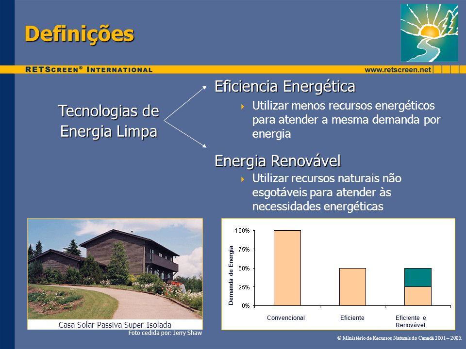 Definições Eficiencia Energética Tecnologias de Energia Limpa