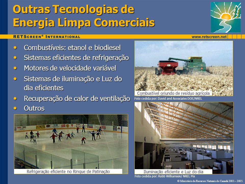 Outras Tecnologias de Energia Limpa Comerciais