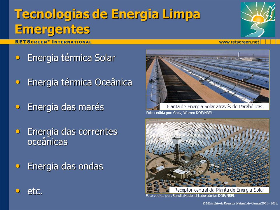Tecnologias de Energia Limpa Emergentes