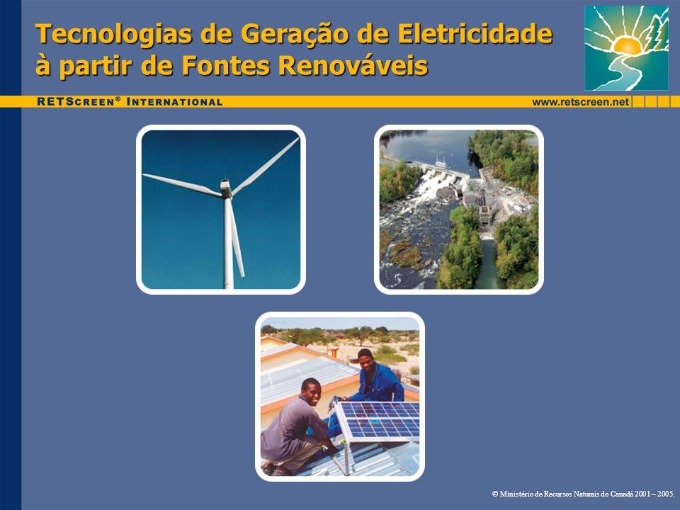 Tecnologias de Geração de Eletricidade à partir de Fontes Renováveis