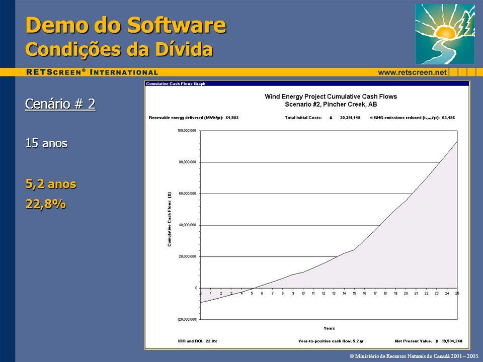 Demo do Software Condições da Dívida