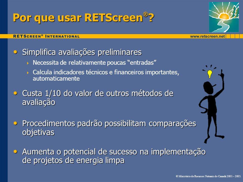 Por que usar RETScreen®