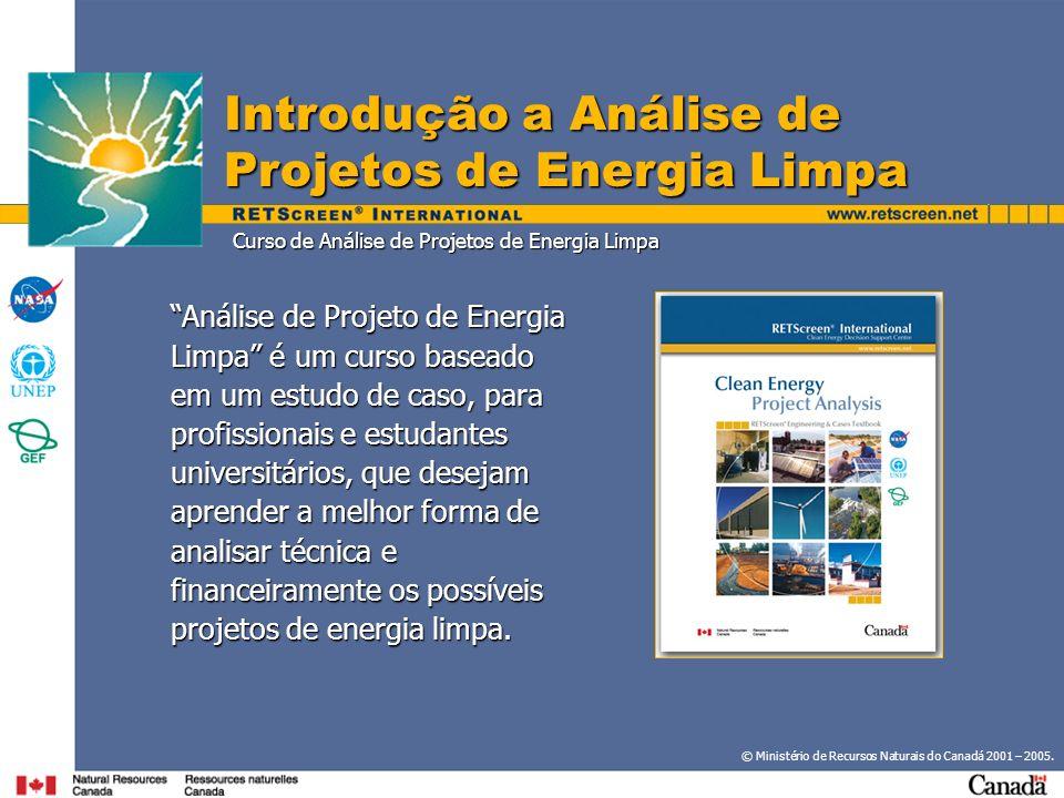 Curso de Análise de Projetos de Energia Limpa