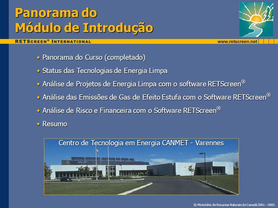 Panorama do Módulo de Introdução