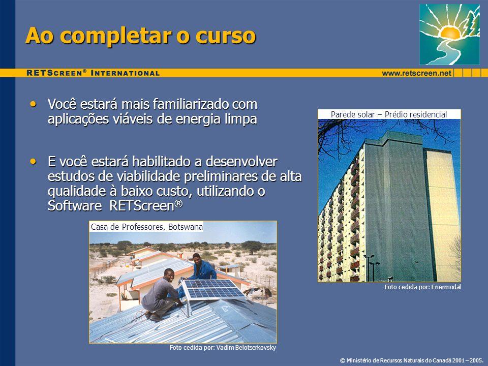 Ao completar o curso Você estará mais familiarizado com aplicações viáveis de energia limpa.