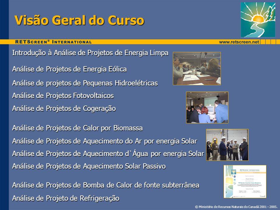 Visão Geral do Curso Introdução à Análise de Projetos de Energia Limpa